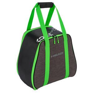 Damen/Herren Freeride Skibootbag/Skischuhtasche | Größe: 45,7 x 40 x 25 cm | Farbe: Antrazit/Grün