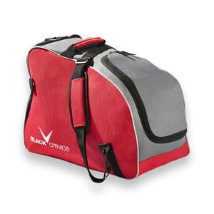 Skischuhe Tasche mit Helm Fach | 53 x 39 x 25 cm | 42 Liter | Farbe: Rot/Grau