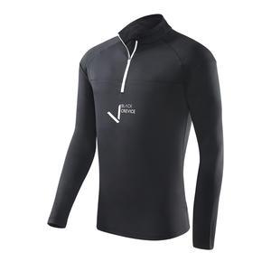 Herren Funktionsshirt mit Zipper | Farbe: Schwarz | Gr. L