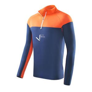 Herren Funktionsshirt mit Zipper | Farbe: Navy/Orange | Gr. XL