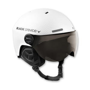 Ski-/Snowboardhelm mit Visier - GSTAAD - Material: PC/EPS | Farbe: White Carbon | Größe: XS (51-53 cm)