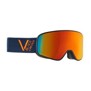 Damen/Herren Skibrille - Modell: SCHLADMING | Farbe: Navy/Orange / Scheibe: Orange | Größe: L