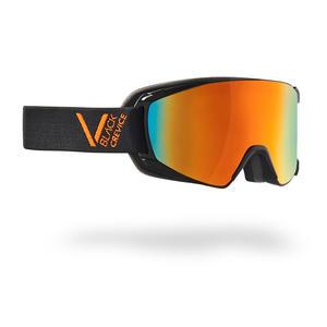 Damen/Herren Skibrille - Modell: SCHLADMING | Farbe: Schwarz/Orange / Scheibe: Orange | Größe: M