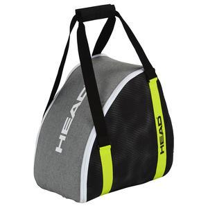 Damen/Herren Skibootbag/Skischuhtasche | Größe: 45,7 x 40 x 25 cm | Farbe: Schwarz/Grau/Gelb