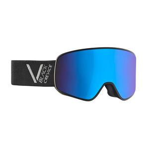 Damen/Herren Skibrille - Modell: SCHLADMING | Farbe: Schwarz/Silber / Scheibe: Blau | Größe: L