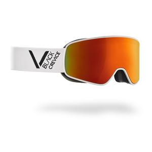 Damen/Herren Skibrille - Modell: SCHLADMING | Farbe: Weiß/Schwarz / Scheibe: Orange | Größe: L