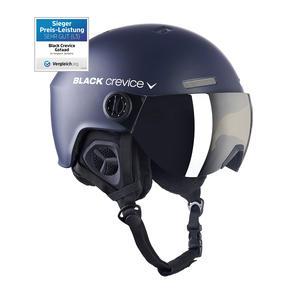 Ski-/Snowboardhelm mit Visier - GSTAAD - Material: PC/EPS | Farbe: Navy White | Größe: S/M (54-57 cm)