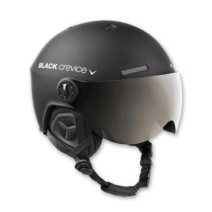 Ski-/Snowboardhelm mit Visier - GSTAAD - Material: PC/EPS | Farbe: Black/White | Größe: XS (51-53 cm)
