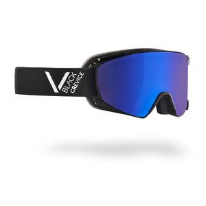 Damen/Herren Skibrille - Modell: SCHLADMING | Farbe: Schwarz/Weiß / Scheibe: Blau | Größe: M