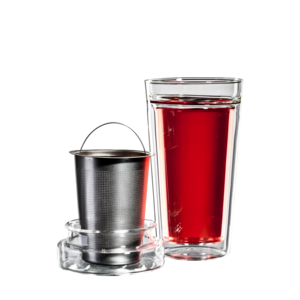 bloomix Teeset Tea Time - doppelwandiges Teeset mit Sieb und Deckel 340ml