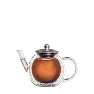 bloomix Teekanne Aronia - doppelwandige Teekanne mit Edelstahlsieb 700ml