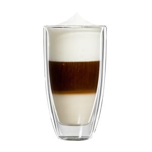 bloomix Roma Latte Macchiato Grande 2er-Set - doppelwandige Latte Macchiato Becher 350ml