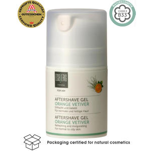 Aftershave Gel Orange Vetiver