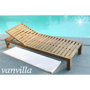vanvilla Sonnenliege Gartenliege Holz Relaxliege BALIMO