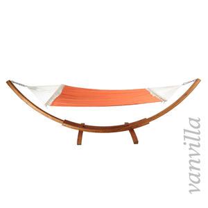 vanvilla Hängemattengestell LaGuara / Matte Orangefarben / Holz Teak