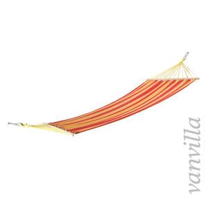 vanvilla Hängematte LaGarde rot-beige gestreift / 120x200cm