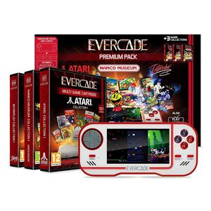 Blaze Evercade Premium Pack + Namco Cart 1, Atari Cart 1 & Interplay Cart 1.