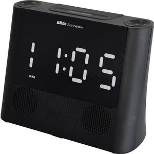 Silva Schneider UR-D 607 UKW Radiowecker Lautsprecher Alarm 10 Speicher Schwarz