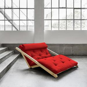 Figo Sofa von Karup KARUP_014-Rahmen weiss-711 red Lonetta
