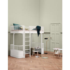 Hochbett in weiß aus der Wood Collection von Oliver Furniture Maße: