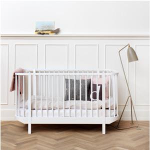Baby und Kinderbett aus der Wood Collection von Oliver Furniture in weiß