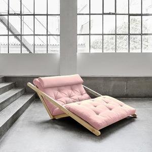 Figo Sofa von Karup KARUP_014-Rahmen natur-749 pink - peonie Lonetta