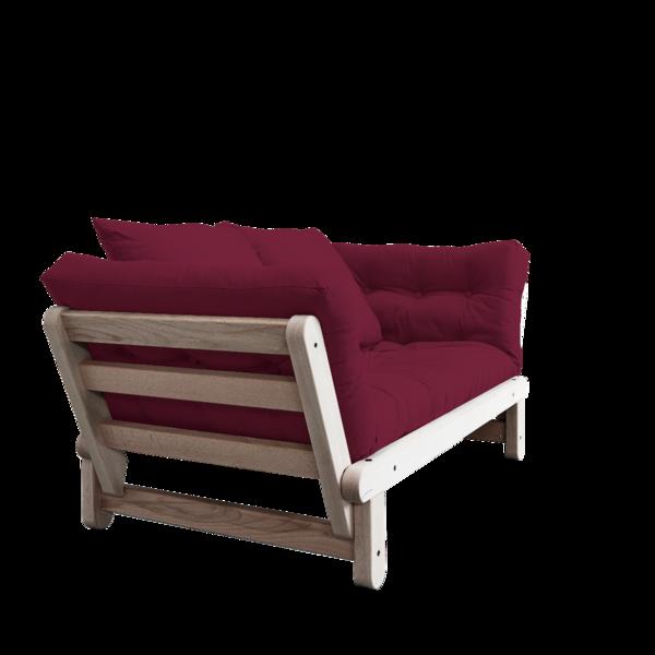 Sofa/Tagesbett Karup 1111100102-710 bordeaux lonetta-Black