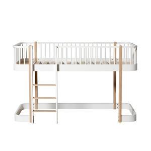 Wood Umbauset Wood Umbauset Einzelbett/Juniorbett zum halbhohen Hochbett, weiß/Eiche