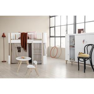 Halbhochbett Mini+ aus der Wood Collection von Oliver Furniture in Weiß/Eiche
