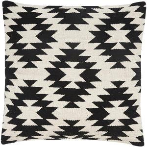 Kissen mit Muster schwarz/weiß