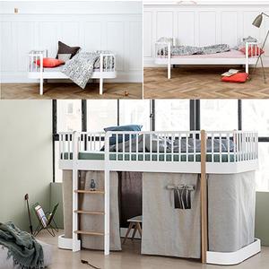 Wood Collection Umbauset Umbauset Einzel- Juniorbett zum halbhohen Hochbett