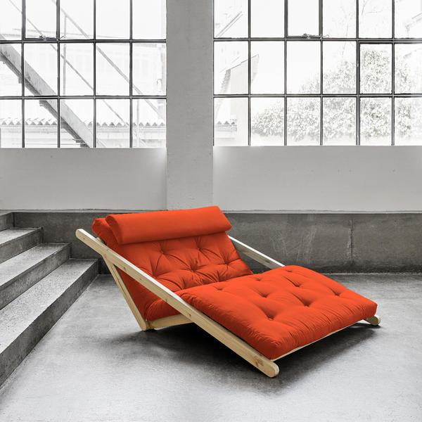 Figo Sofa von Karup KARUP_014-Rahmen natur-738 orange Lonetta