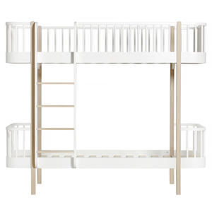 Wood Collection Umbauset Umbauset Einzel- Juniorbett zum Etagenbettweiß/Eiche
