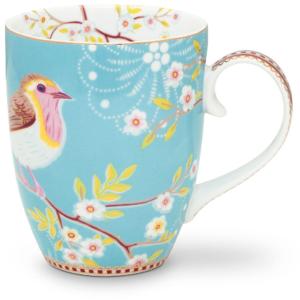 PiP Floral Early bird Tasse groß-blau