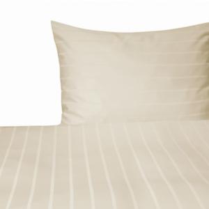 Dessin Streifen -champagner-Set 40x80 + 135/140x200cm