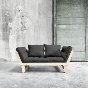 Sofa/Tagesbett Karup 1111100102-734 dark grey lonetta-clear lacquer Natural