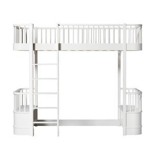 Woo Collection Umbauset Umbauset Halbhohes Hochbett zum Hochbett, weiß