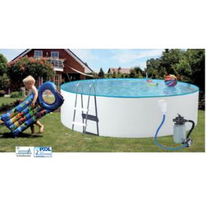 Poolset Splash Rund Ø 3,00m - 4,60m x 0,90 - 1,10m mit Sandfilter