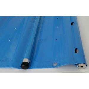 Rollabdeckplane für 8m x 4m Becken, Modell light hellblau