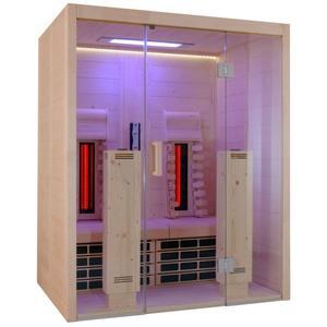 VitaMy 164 Vollspektrum-Infrarotkabine S&L S&L (Sound und Farblicht), USB-Dock und LED Beleuchtung