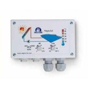 Solarsteuerung NeptuSol inkl. 2 Fühler und 2 Tauchhülsen