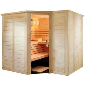 Domo Sauna Polaris Small aus massiver Fichte 206x206x204cm