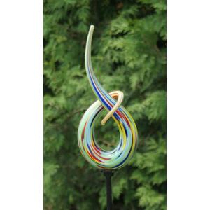 "Gartenstab Glas "" Ornament "" bunt"