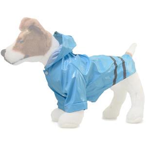 Wasserfester Regenmantel für Hunde mit Reflektionsstreifen und Kapuze