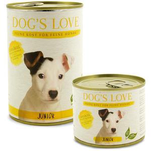 Dog´s Love JUNIOR Hundefutter, Geflügel mit Zucchini und Apfel