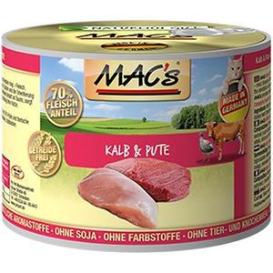 Macs Cat, Katzenfutter Kalb und Pute