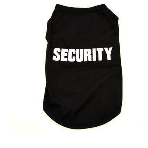 Hundeshirt SECURITY, schwarz ohne Ärmel, aus Baumwolle