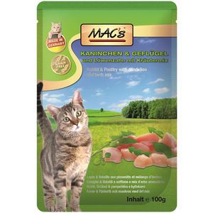 Macs Cat, Katzenfutter Kaninchen, Geflügel, Löwenzahn 100g