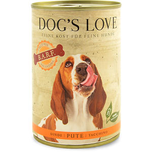 Dog´s Love B.A.R.F Hundefutter, Pute pur