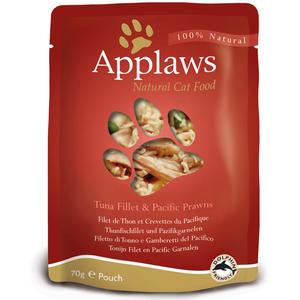 Applaws Cat Pouch - THUNFISCHFILET mit GARNELEN 70g